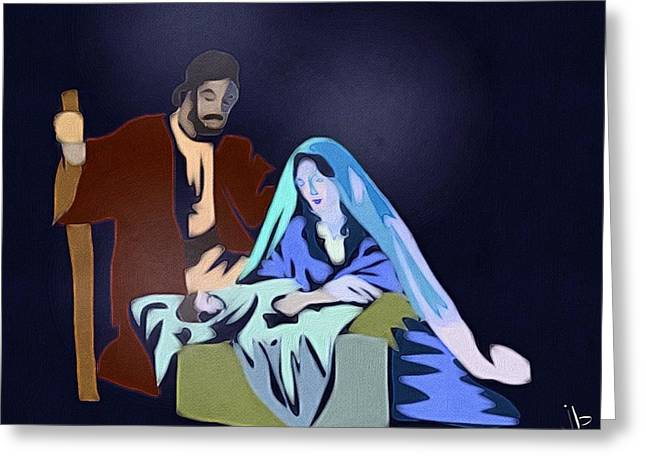 Incarnation Greeting Cards - A Son is Given Greeting Card by Jennifer Buerkle
