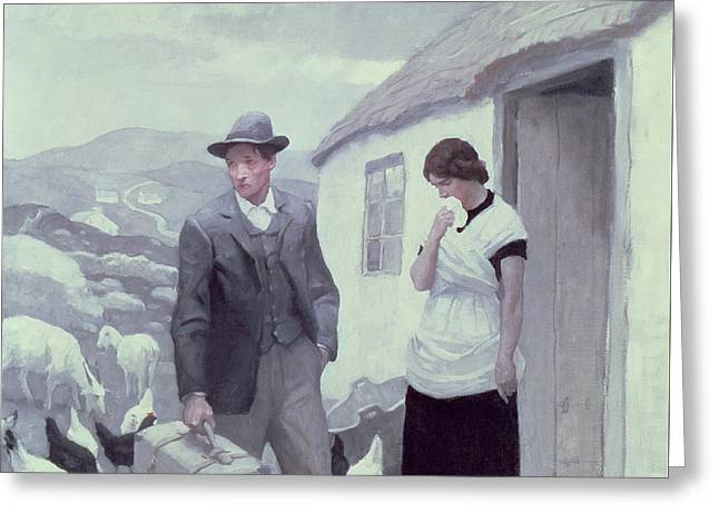 A Son Of His Father  Greeting Card by Newell Convers Wyeth