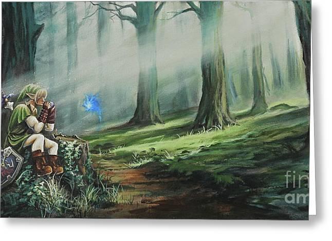 Fantasy Greeting Cards - A Song for Navi Greeting Card by Joe Mandrick