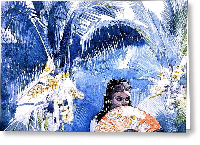 Latina Greeting Cards - A Spanish Girl With A Fan Greeting Card by Winslow Homer