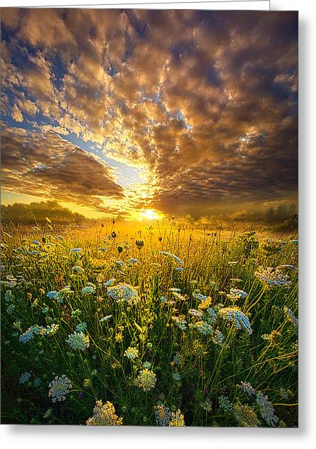 Country Living Greeting Cards - A Spiritual Calling Greeting Card by Phil Koch