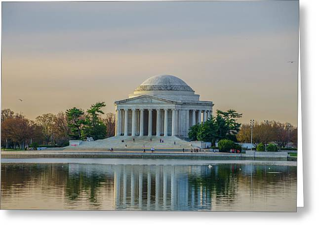 A Spring Day At The Jefferson Memorial Greeting Card by Bill Cannon