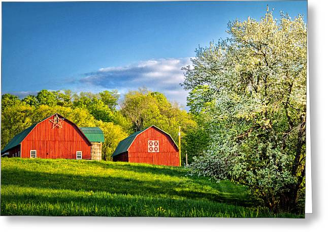 The Hills Greeting Cards - A Spring Evening in the Country Greeting Card by Carolyn Derstine