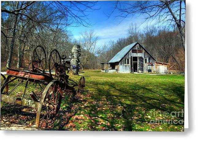 Rural Indiana Photographs Greeting Cards - A Spring Time Story Greeting Card by Mel Steinhauer