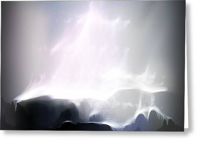 A Stairway To Heaven Greeting Card by Arne Hansen