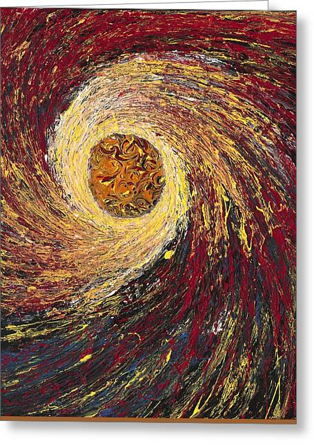 Stellar Paintings Greeting Cards - A Star is Born Greeting Card by Carlos Romero