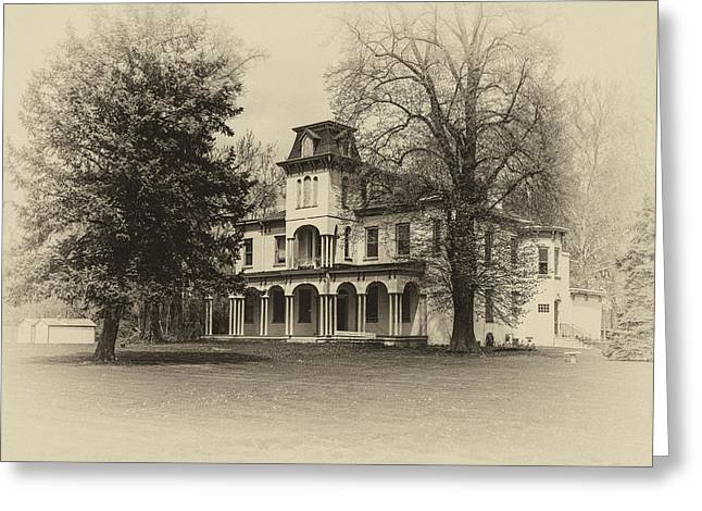Historic Home Greeting Cards - A Stately Mansion Greeting Card by Gail Hare