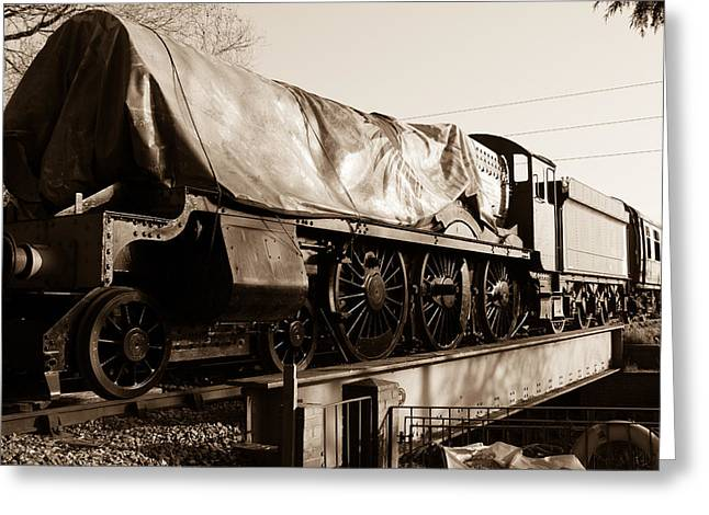 A Steam Train Under The Covers Greeting Card by Steven Sexton