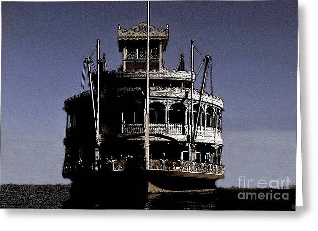 Steamboat Digital Greeting Cards - A steamboat a comin Greeting Card by David Lee Thompson