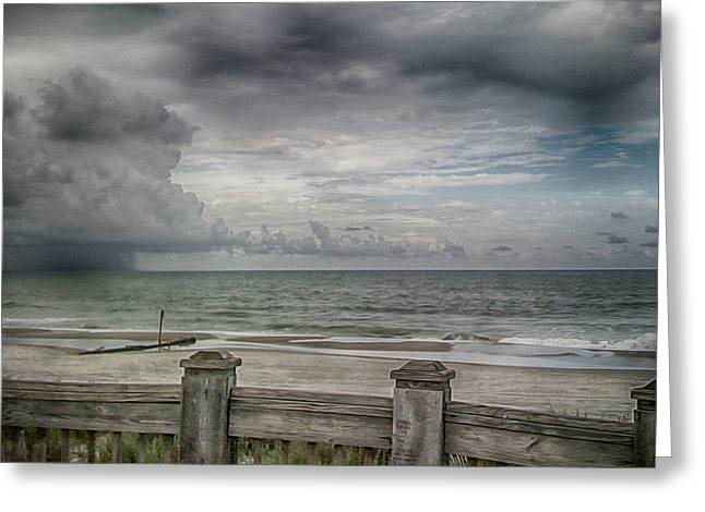 A Storm Approaching Storm Greeting Card by Tom Gari Gallery-Three-Photography