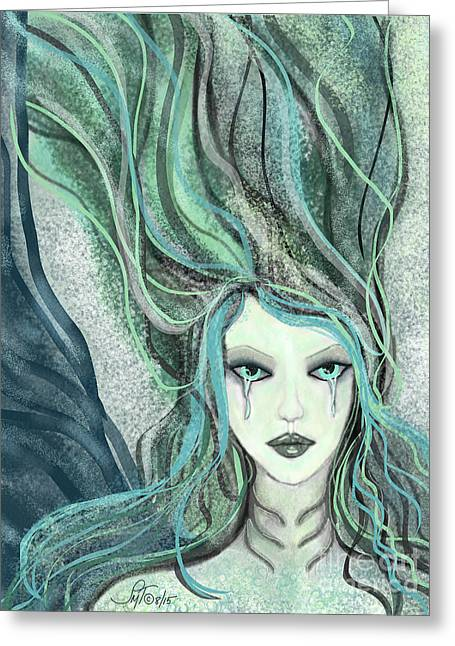 Tears Greeting Cards - A Stranger Mermaid Greeting Card by Forever Art And  Fashion by Leslie