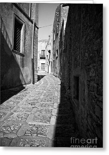 Southern Italy Greeting Cards - A Street in Sicily Greeting Card by Madeline Ellis