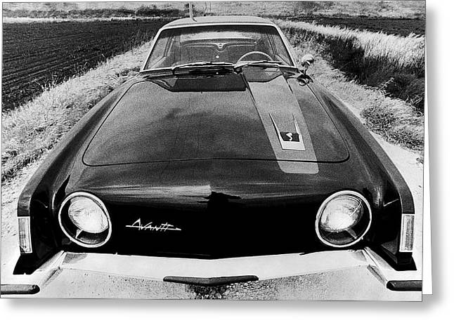 A Studebaker Avanti Greeting Card by Underwood Archives