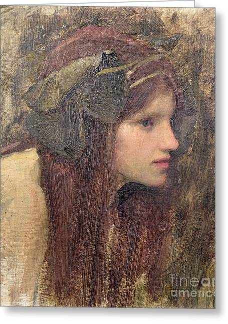 Waterhouse Greeting Cards - A Study for a Naiad Greeting Card by John William Waterhouse
