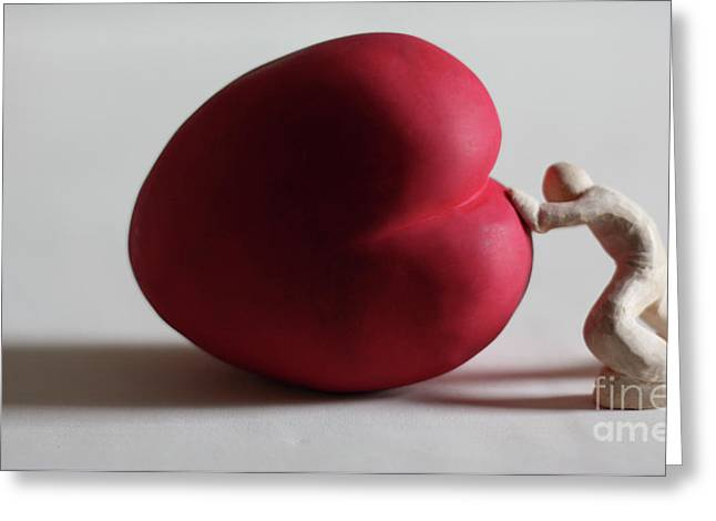 Love Sculptures Greeting Cards - A Study for my first Sculpture Greeting Card by Chris Mackie
