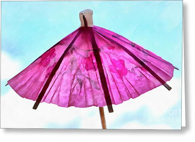 Whimsical. Greeting Cards - A Summer Day Greeting Card by Krissy Katsimbras