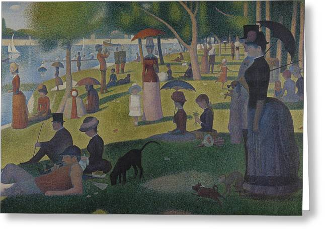 Seurat Greeting Cards - A Sunday Afternoon on the Island of La Grande Jatte Greeting Card by Georges-Pierre Seurat