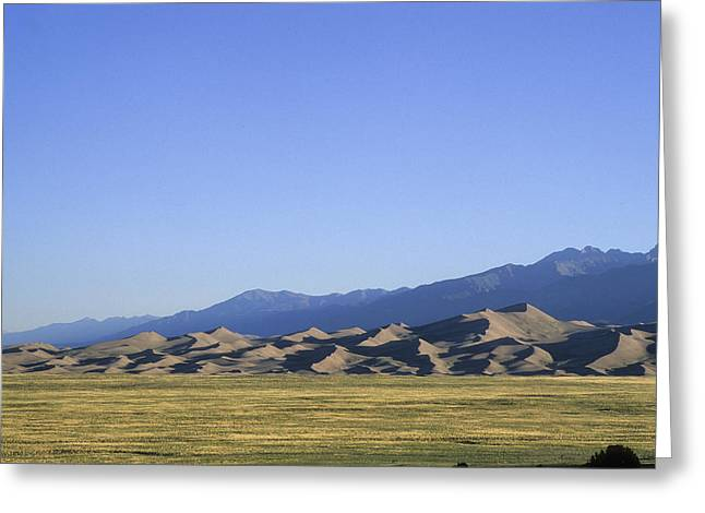Sangre De Cristo Mountains Greeting Cards - A Sunrise View Of North Americas Greeting Card by Taylor S. Kennedy
