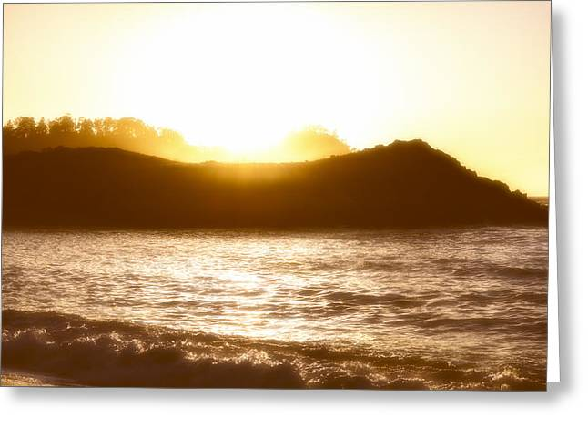 Point Lobos Reserve Greeting Cards - A Sunset Greeting Card by Joseph S Giacalone