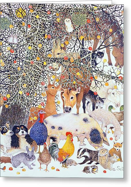 Christmas Card Drawings Greeting Cards - A Tasty Treat Greeting Card by Pat Scott