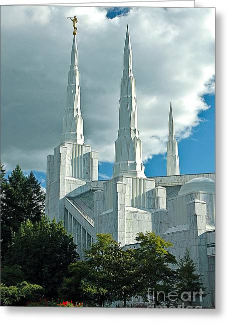 Gospel Greeting Cards - A Temple To The Most High God Greeting Card by Nick  Boren