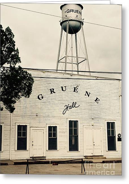 Recently Sold -  - Old Street Greeting Cards - A Texas Town Greeting Card by Gary Richards