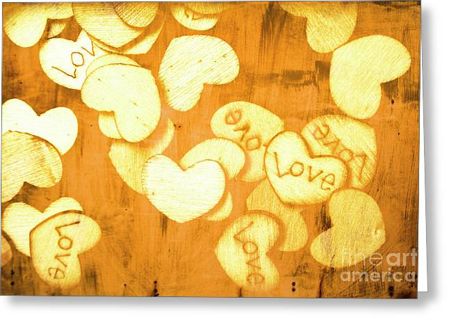 A Texture Of Vintage Love Greeting Card by Jorgo Photography - Wall Art Gallery