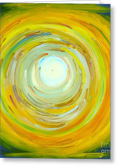 Green And Yellow Greeting Cards - A Thought Before The Sunrise Greeting Card by Victoria Tara