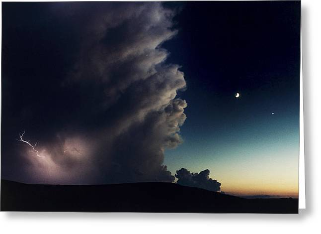 A Thunderstorm, Evening Star Greeting Card by Joel Sartore
