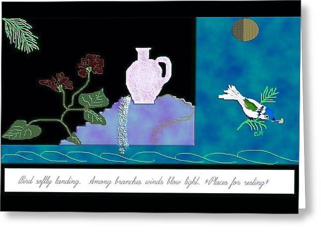 Breezy Greeting Cards - A time for Rest Greeting Card by Christine Mulgrew
