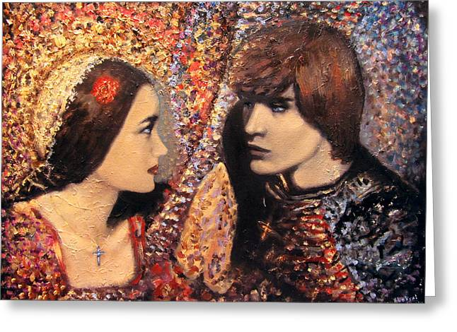 A Time For Us. Romeo And Juliet Greeting Card by Aleksei Gorbenko
