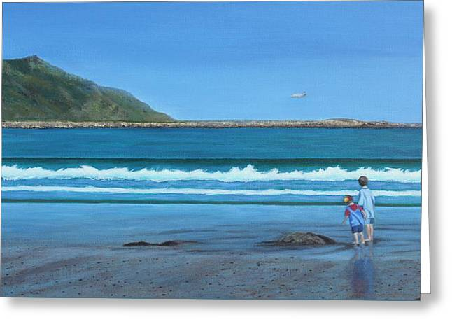 Aotearoa Greeting Cards - A Time Of Wonder Greeting Card by Karen Wood