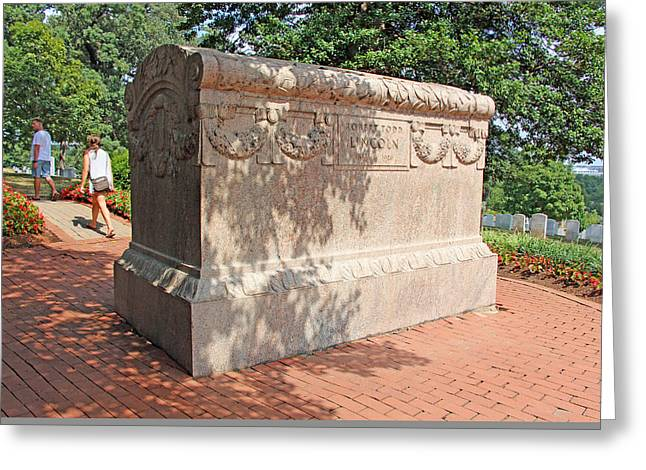 Mary Todd Lincoln Greeting Cards - A Tomb Worthy Of Lincolns Son Robert Todd Greeting Card by Cora Wandel