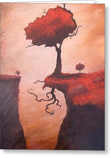 Cliff Paintings Greeting Cards - A Totem of Will Greeting Card by Ethan Harris