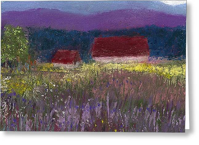 Blue Pastels Greeting Cards - A Touch of Lavender Greeting Card by David Patterson