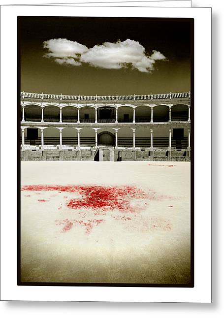 Bullfight Greeting Cards - A Tradition of Tragedy Greeting Card by Mal Bray