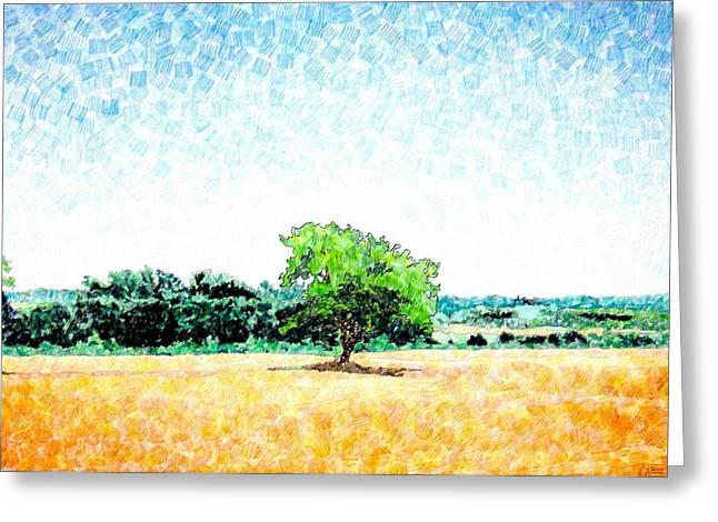 A Tree Near Siena Greeting Card by Jason Charles Allen