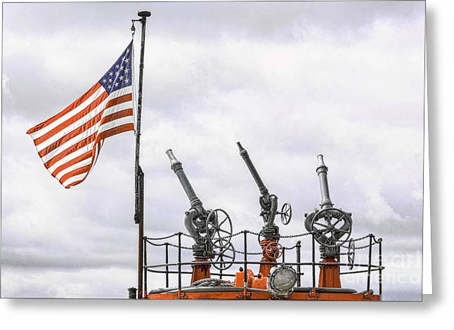 Ocean Art Photos Greeting Cards - A Tribute To Marine Firefighters Greeting Card by Joe Geraci