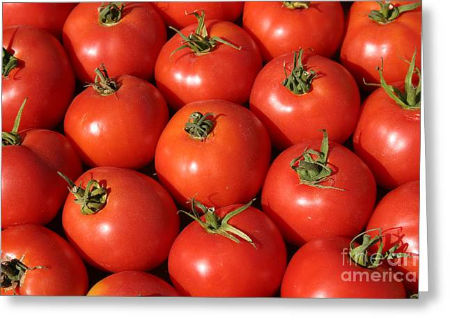 Michael Sweet Greeting Cards - A trip through the farmers market with red tomatoes Greeting Card by Michael Ledray