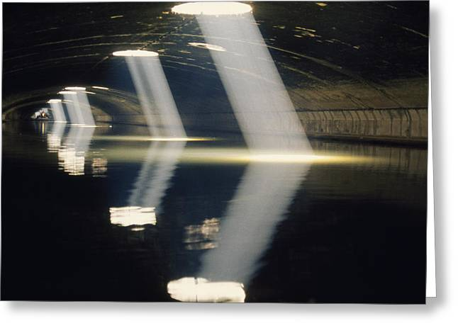 Saint-martin Greeting Cards - A Tunnel On Canal Saint Martin Allows Greeting Card by Gordon Gahan