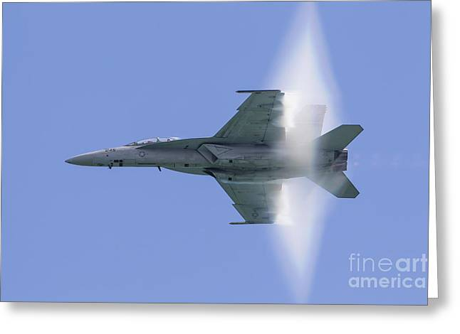 F-18 Greeting Cards - A U.s. Navy Fa-18f Super Hornet Flies Greeting Card by Rob Edgcumbe