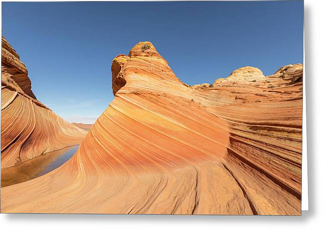 A Valley And The Wave Greeting Card by Tim Grams