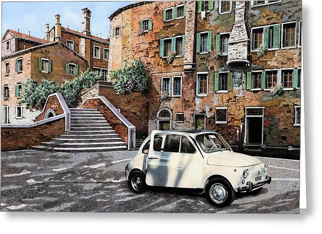 a Venezia in 500 Greeting Card by Guido Borelli