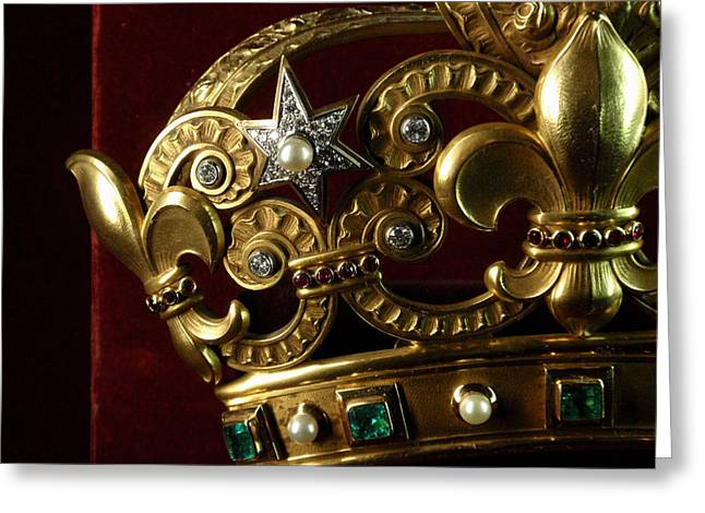 Emerald Jewelry Greeting Cards - A VERY expensive Crown L Greeting Card by Edan Chapman