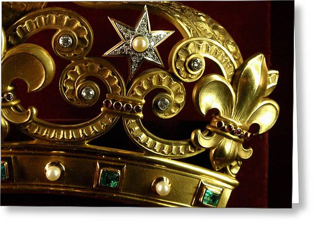 Emerald Jewelry Greeting Cards - A VERY expensive Crown R Greeting Card by Edan Chapman