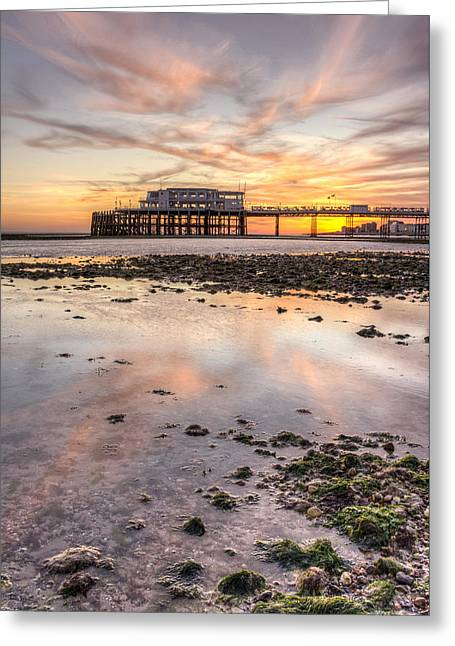 A Very Low Tide Greeting Card by Hazy Apple