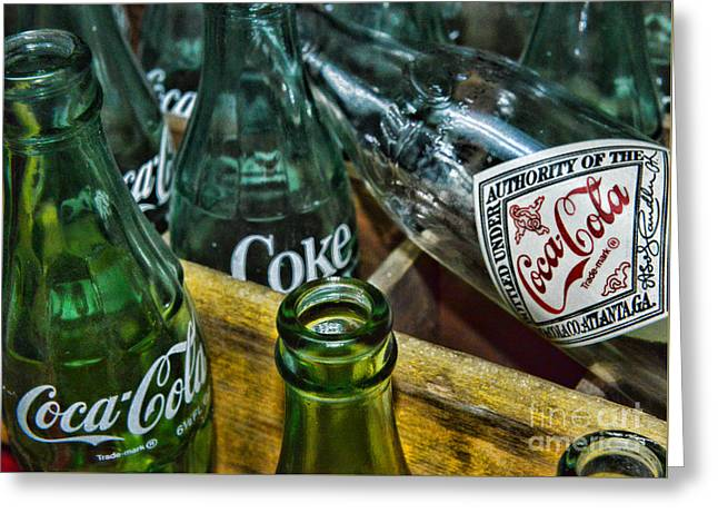 The Real Thing Greeting Cards - A Very Old Cola  Greeting Card by Paul Ward