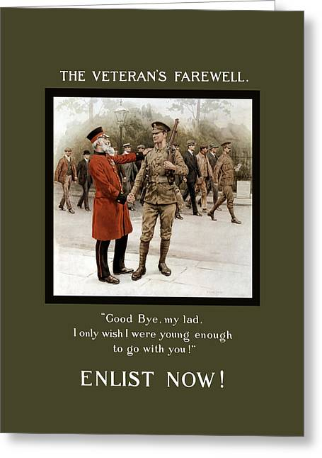 Ww1 Greeting Cards - A Veterans Farewell - WW1 Greeting Card by War Is Hell Store