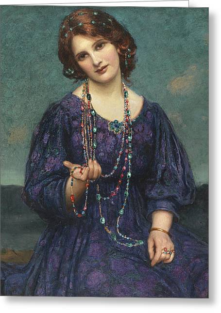 A Viennese Memory  Greeting Card by Thomas Edwin Mostyn