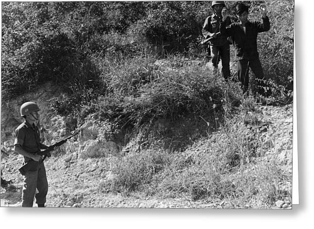 A Viet Cong Surrenders Greeting Card by Underwood Archives